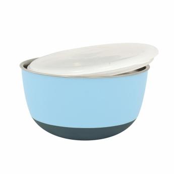 Teräskuppi kannella sininen 700 ml