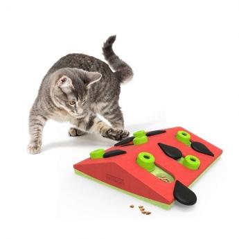 Nina Ottosson Cat Melon Madness Puzzle and Play punainen