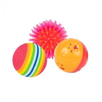 Kissan Lelu Little&Bigger PurePurr värikkäät pallot 3 kpl