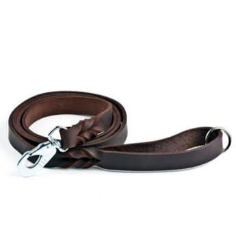 Nahkatalutin Feel Leather Braid, ruskea