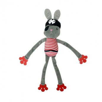 Koiran lelu Bark-a-Boo Spooky Flappy Pirate Bunny