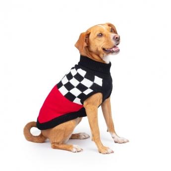 Koiran neule Basic Race punainen