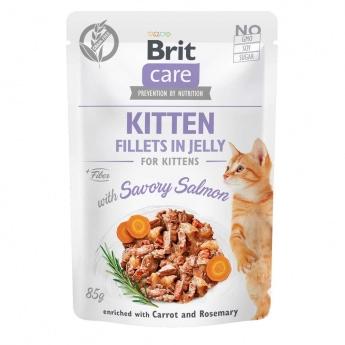 Brit Care Jelly Kitten lohifilee hyytelössä 85 g