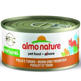Almo Nature HFC -kissan märkäruoka, kana ja tonnikala 70 g
