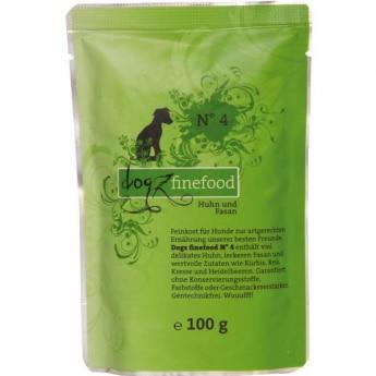 Dogz Finefood N°4 kana & fasaani (100 g)