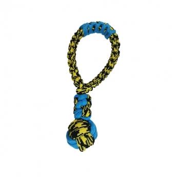 Paracord Tug -solmulelu sini-keltainen