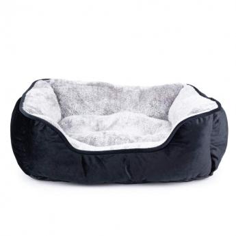 Koiran peti Little&Bigger Velvet musta/harmaa