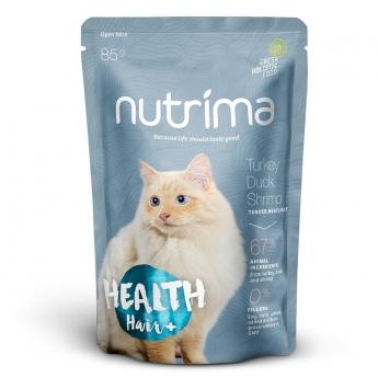 Nutrima Cat Health Hair+ märkäruoka 85g