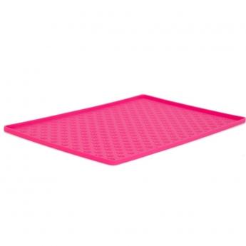 Ruokakupin alusta pinkki 48x30 cm