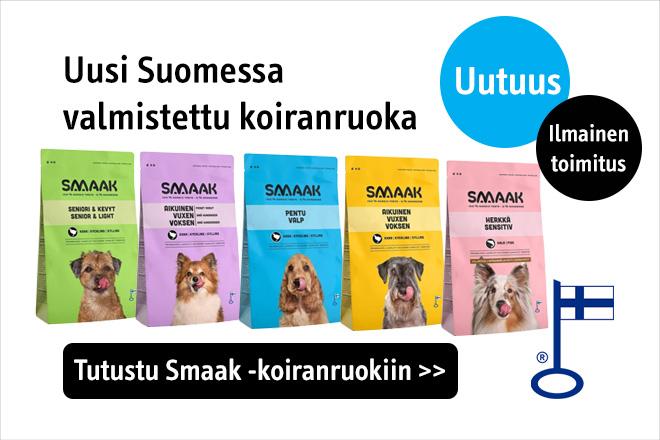 Uusi Suomessa valmistettu koiranruoka Smaak