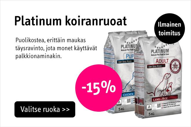 Platinum koiran kuivaruoka -15%