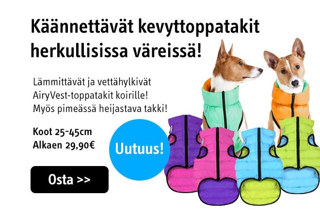 Kevyttoppatakki koiralle