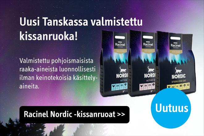 Uutuus! Tanskassa valmistetut Racinel Nordic kissan kuivaruoat