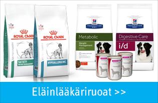 Eläinlääkäriruoat koirille