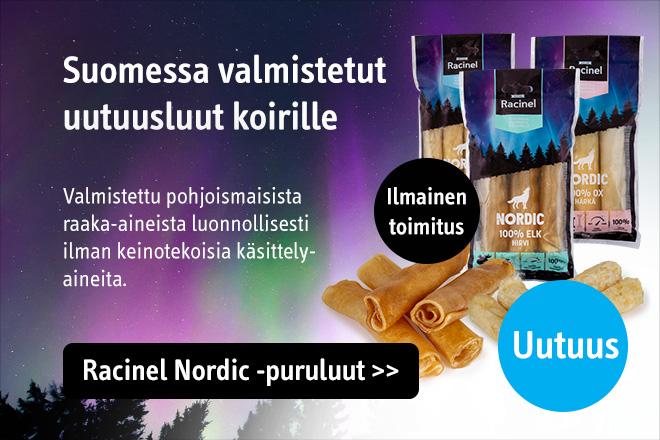 Uutuus: Suomessa valmistetut Racinel puruluut koirille