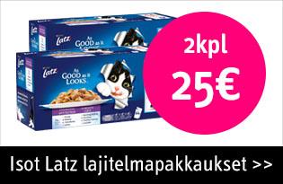 Latz kissanruoka 2kpl 25€