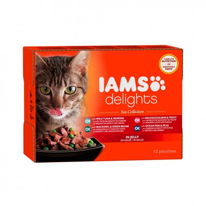 IAMS Delights Jelly Kalalajitelma 12 x 85 g