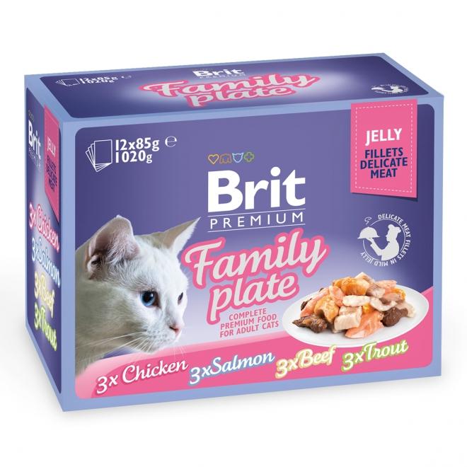 Brit Premium paloja hyytelössä Multipack 12x85g