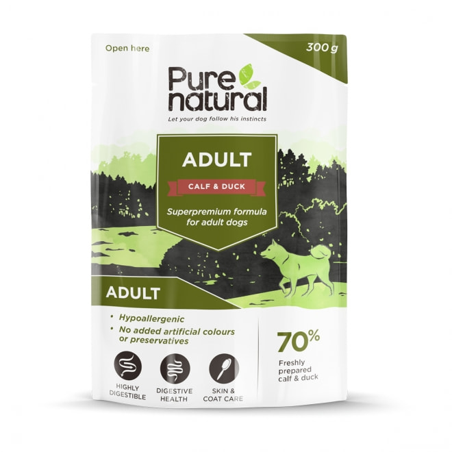 Purenatural Adult vasikka & ankka, 300g