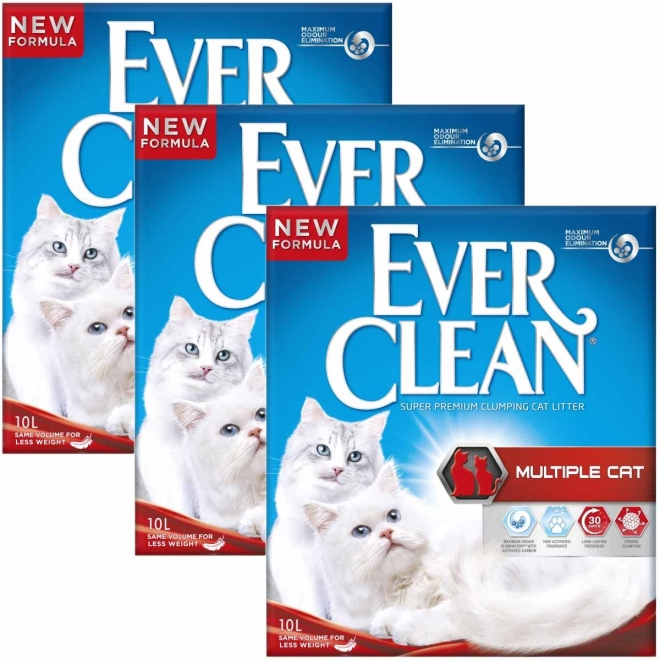 Kissanhiekka Ever Clean Multiple Cat, 3x 10l