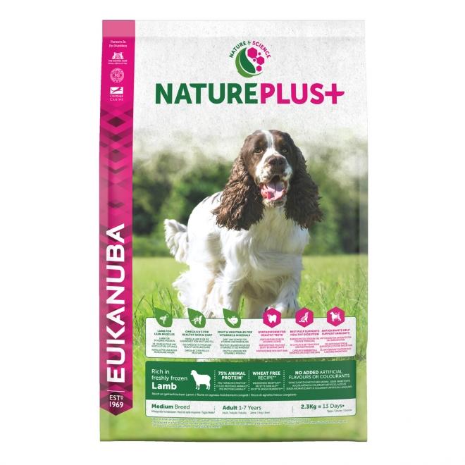 Eukanuba NaturePlus+ Adult Medium Lamb (2,3 kg)
