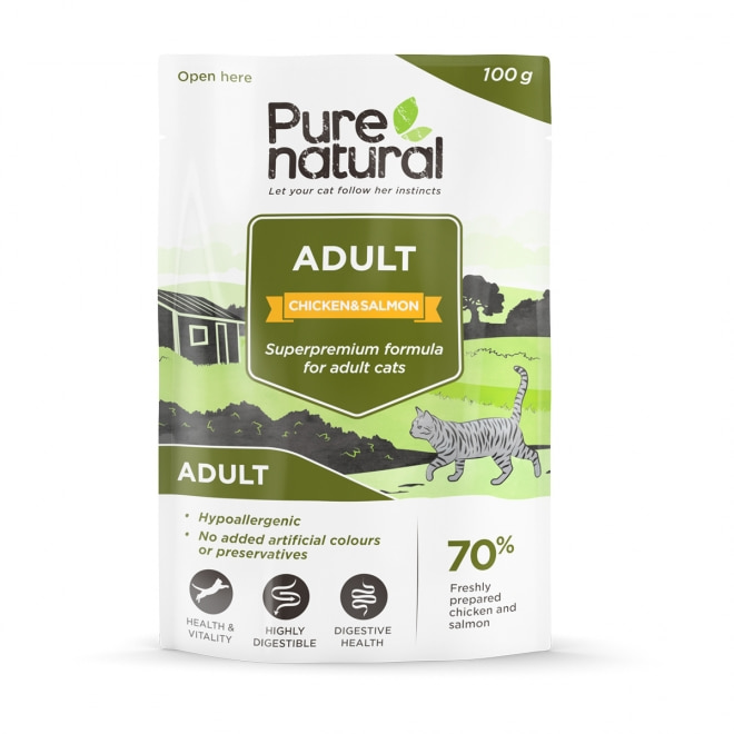Purenatural Adult kana & lohi, 100g