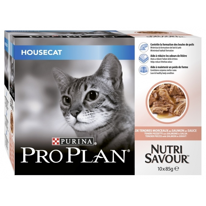 Pro Plan Housecat Salmon Multipac Wet 10 x 85g