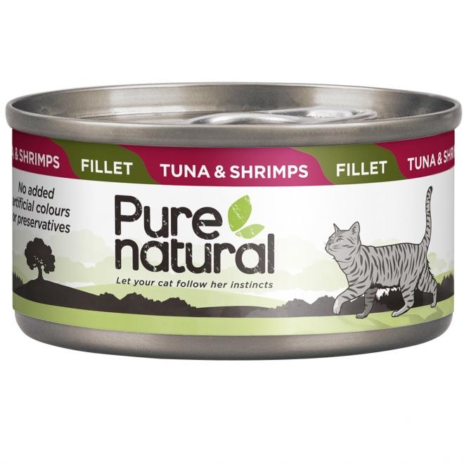 Purenatural Fillet tonnikala & katkarapu 70 g