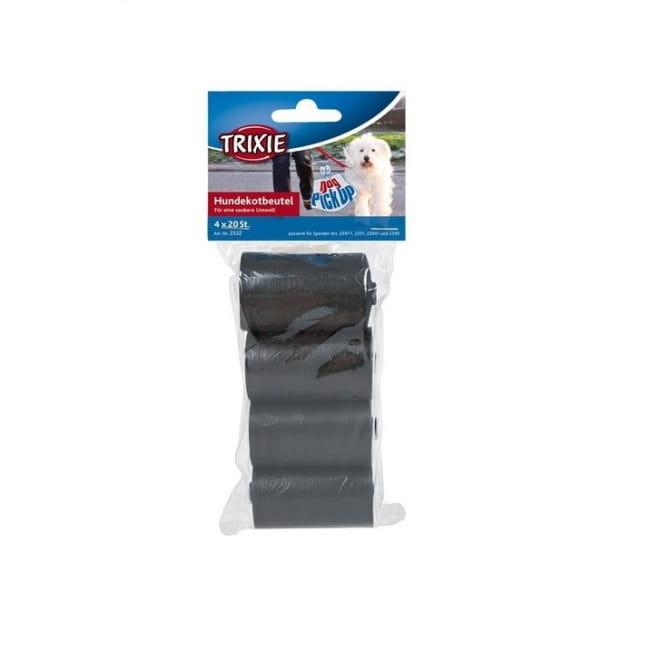 Kakkapussit Trixie Black M, 4x 20 kpl
