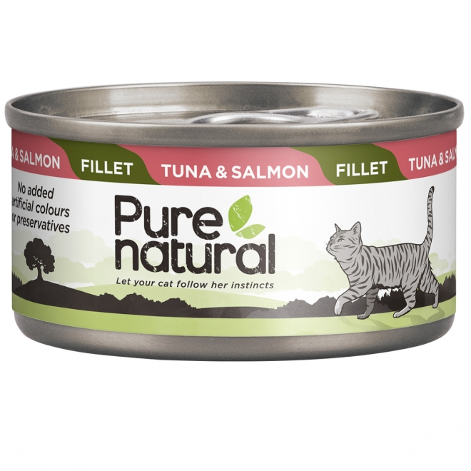 Purenatural Fillet tonnikala & lohi 70g