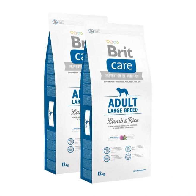 Brit Care Adult Large Lamb & Rice 2 x 12kg