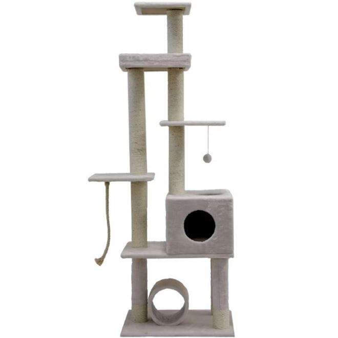 Kissan kiipeilypuu L&B Quadric,valkoinen
