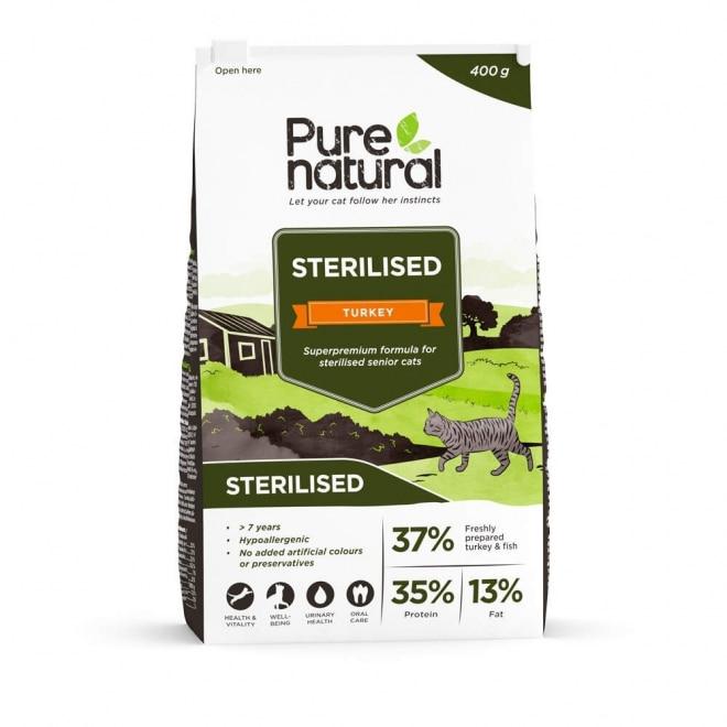 Purenatural Sterilised Turkey 7+ (400 g)