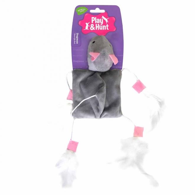Kissanlelu hiiri höyhenillä