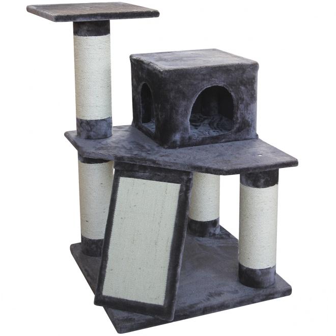 Kissan kiipeilypuu L&B Fortis, harmaa