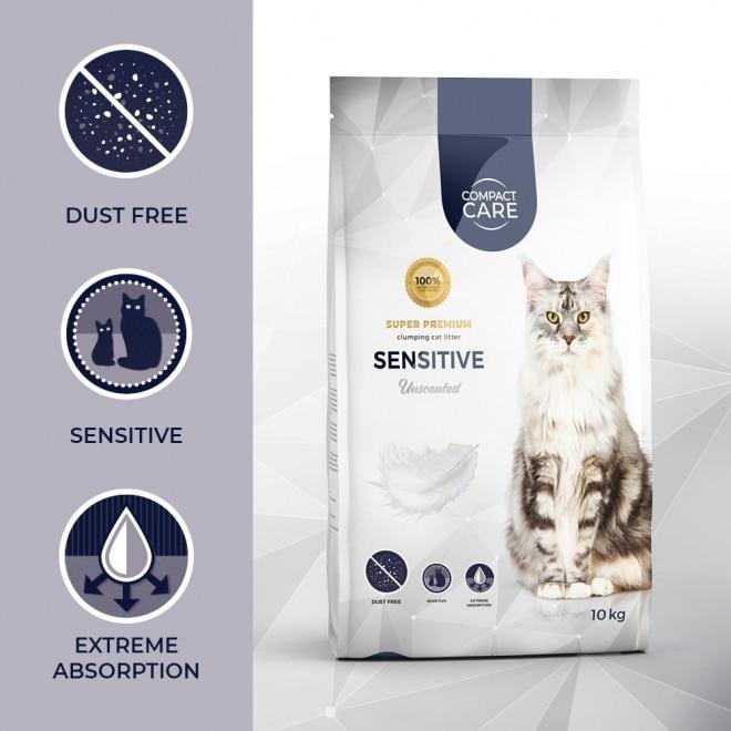 Kissanhiekka Compact Care Sensitive 10 kg
