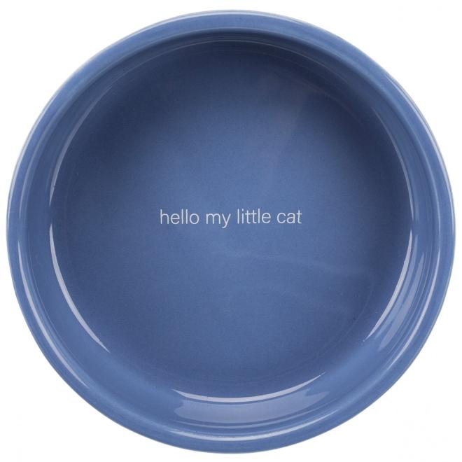 Kissankuppi Delio sininen/valkoinen