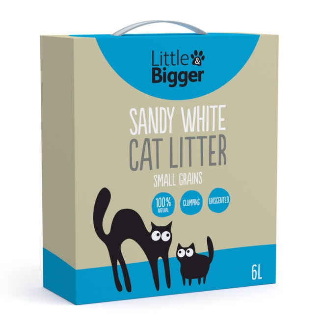 Kissanhiekka L&B Sandy White (6 l), Little&Bigger