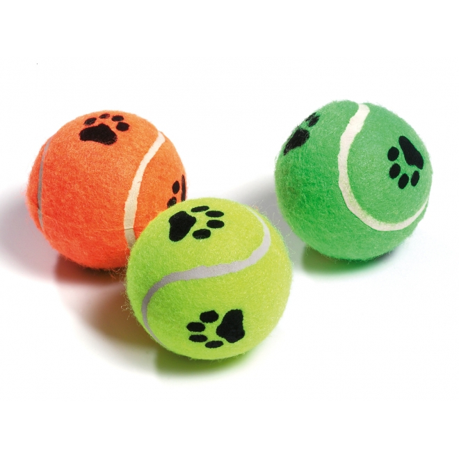 Tennispallot vingulla 6 cm, 3 kpl