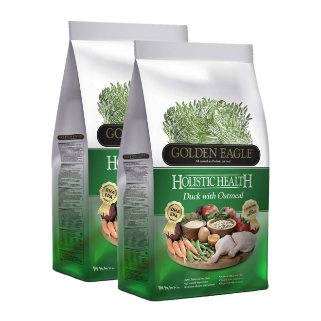Golden Eagle Holistic Duck with Oatmeal 2 x 12 kg
