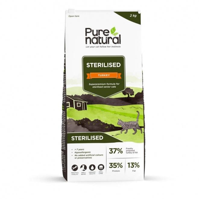Purenatural Sterilised Turkey 7+ (2 kg)