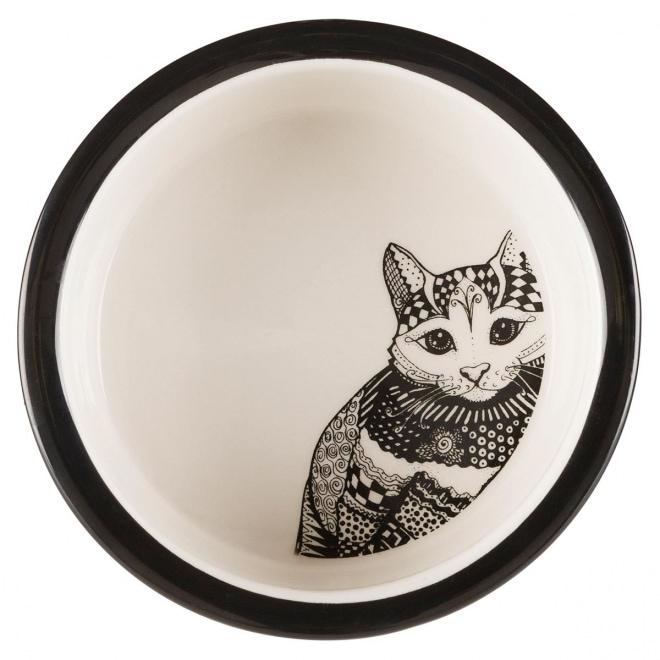 Kissankuppi Trixie Zentangle 0,3 l, 12 cm