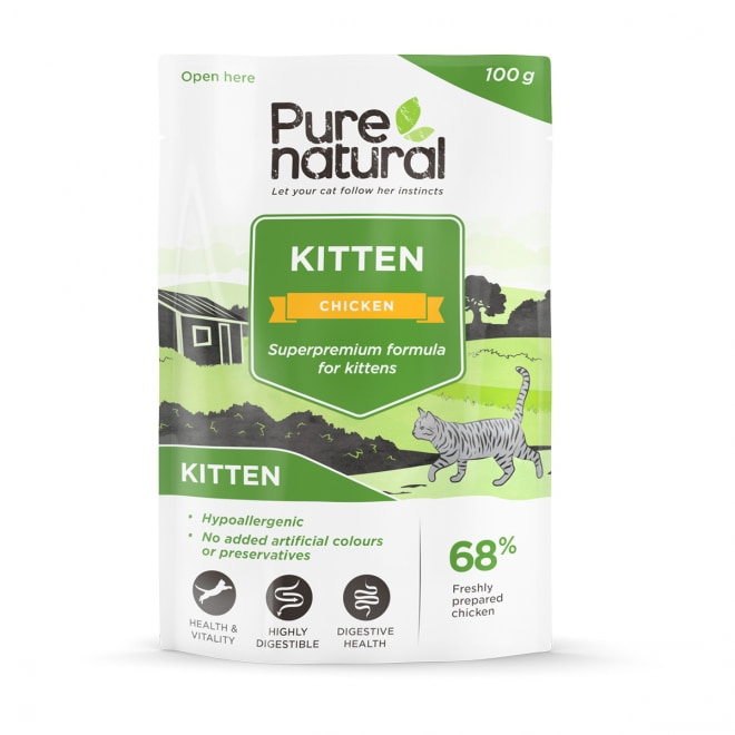 Purenatural Kitten kana & riisi, 100g