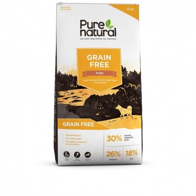 Purenatural Adult Dog Grain Free Pork (12 kg)