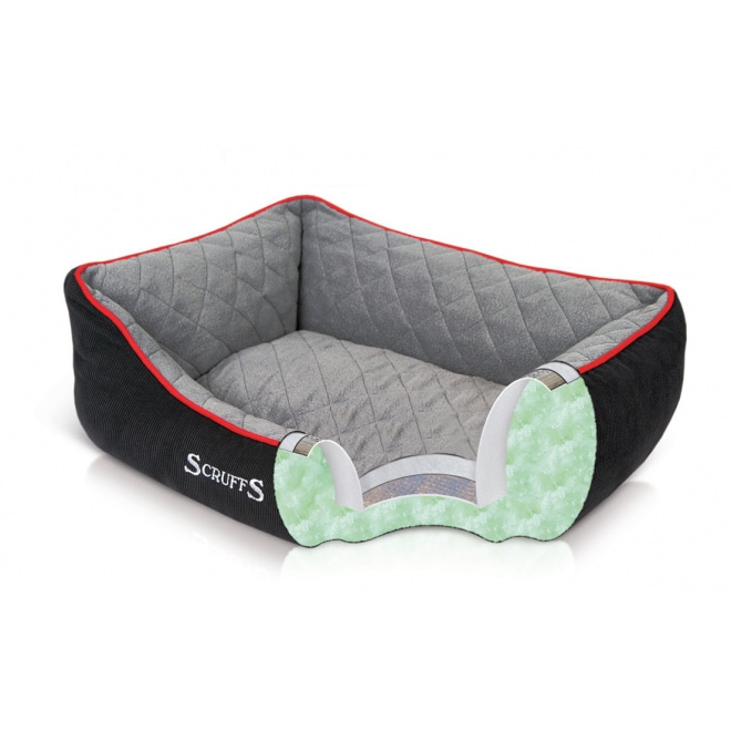 Peti Scruffs Thermal Box Bed, musta