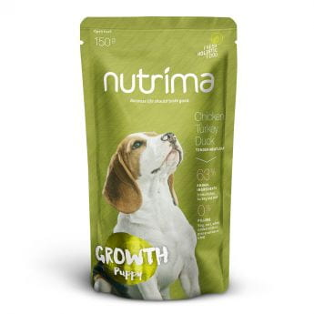 Nutrima Growth Puppy Kylling, Kalkun & And 6 x 150 g