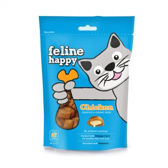Feline Happy Kylling Kattegodteri 60 g