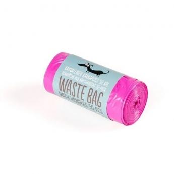 Little & Bigger Hundepose Knytehåndtak Rosa 50-pack
