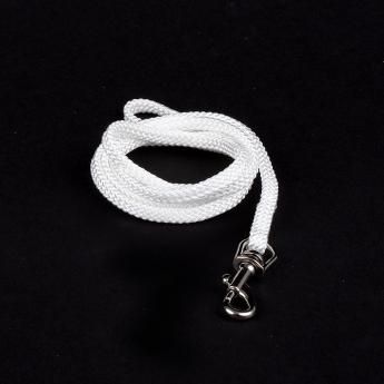 Show Dog Show Lead med sølvfarget lås 90 cm (5 mm)