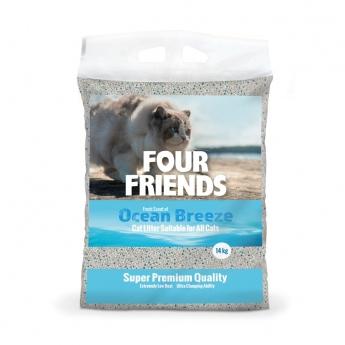 FourFriends Ocean Breeze Kattesand 14 kg